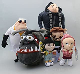 6 pcs/set Despicable ME Minions Girls Agnes Edith Margo Papa Gru Dog Kyle Dr. Nefario Soft Plush Toys Doll Kid Xmas Gift