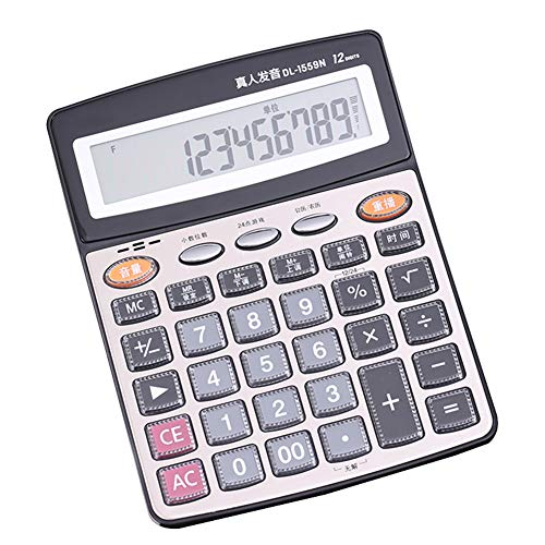 Elektronische digitale rekenmachine Office Financial Accounting School Desktop 12-cijferige briefpapier
