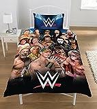 WWE - Set de Funda de edredón Legends, 50% de poliéster y 50% de algodón, Multicolor, Cama Doble, 135 x 200 cm
