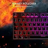 Zoom IMG-2 aukey tastiera gaming meccanica con