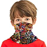 Five Nights At Freddys Group Poster Kids Neck Gaiter Face Covering Boys Girls Bandanas Mouth Cloth Cover Balaclavs Tube Headband For Dust Sun Protection
