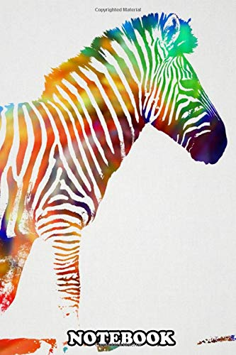 """Notebook: Zebra , Journal for Writing, College Ruled Size 6"""" x 9"""", 110 Pages"""