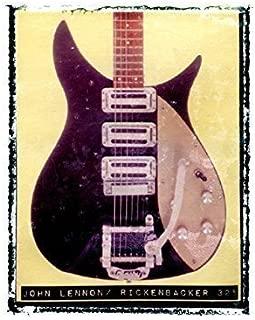John Lennon Rickenbacker beatles Guitar art music print / Guy Gift / Rock n roll art / music gift idea