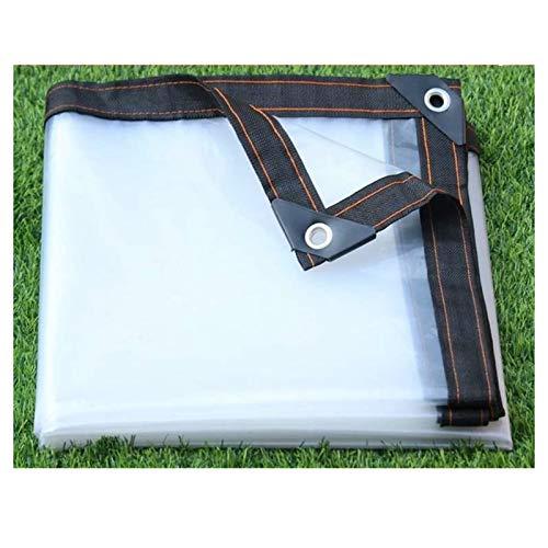 KUYUC Lona Transparente Polietileno, Impermeable Lona de Protección Reforzado para Invernadero a Prueba de Lluvia Toldos de Plantas, 120g/m² (Color : Clear, Size : 2x3m/7x10ft)