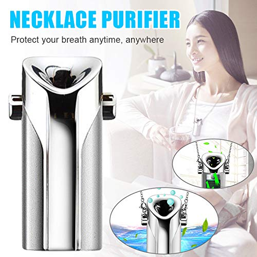 Cheapest Prices! Necklace Air Purifier Portable Mini Air Purifier USB Charging Wearable Necklace Air...