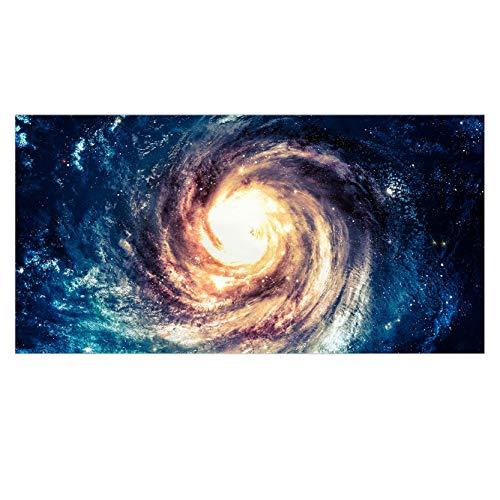 Sticker Superb Univers Serviette de Plage Rectangulaire Confortable et Doux Jeter Couverture pour Les Hommes Madame Couverture Galaxie/Tapis de Yoga (Vortex Spatial, 75 x 150 cm)