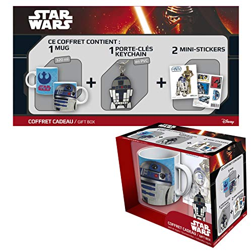 ABYstyle – One Piece Star Wars Gift Box Taza con llavero y Sticker R2D2 Unisex-Adult,...