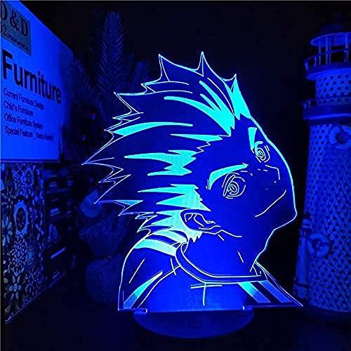 Haikyuu Bokuto 3D LED Anime Lampe Beauty Changing Color Haikyuu Bokuto Tischlampe für Weihnachten Geburtstag Geschenk