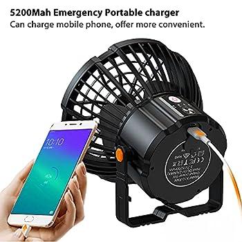 lampe camping ventilateur silencieux,HooySprs lanterne solaire exterieur ,ventilateur usb portable multifonctionnel de camping,lampe led rechargeable avec télécommande,ventilateur de bureau suspendu