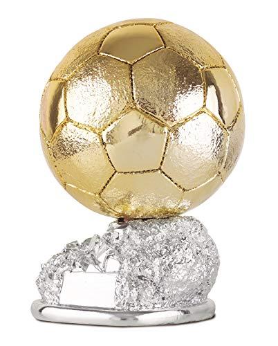 NuevoArte Trofeo de Fútbol Balón de Oro. Tamaños de 24cm y 29cm de Altura