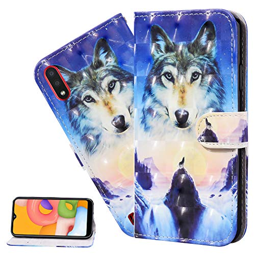 LEMAXELERS For iPhone XR Case iPhone XR Cover 3D Sunrise Wolf PU Leather Flip Notebook Wallet Case Magnetic Stand Card Slot Folio Bumper Case for iPhone XR,CY Sunrise Wolf