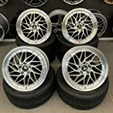 4 x 18 Zoll Ultra Wheels UA14 Alu Felgen 8,5x18 5x120 ET35 silber Rand poliert für 3er E36 E46 E90 E91 E92 E93 F30 F31 F34 4er F32 F33 F36 M4 335 435 M-Paket M-Performance CSL Le Mans NEU