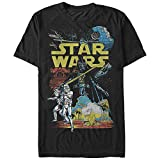 Star Wars Men's Rebel Classic Graphic T-Shirt, Black, XXL