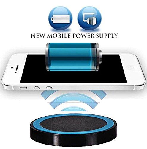 tomaxx QI für Huawei Mare 20 Pro, Huawei Mate 20 RS, Samsung Galaxy S9 / Galaxy S9 Plus, Doogee S60 Wireless Schwarz Ladegerät Induktive Ladestation Qi Charger 5V / 2A blau