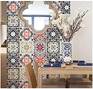 6pcs 20cm Italian style simulation floor Sticker home living room bathroom glass door and window partition removable wall Sticker XIAO