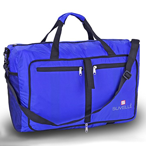 Suvelle Lightweight 21' Travel Foldable Duffel Bag for Luggage Gym Sports Water Resistant Nylon Duffle