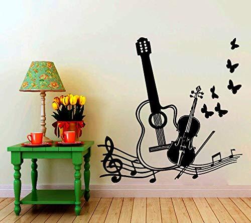 BailongXiao Rahmenlos-Mit Vogelschmetterling Musikinstrument Silhouette Art