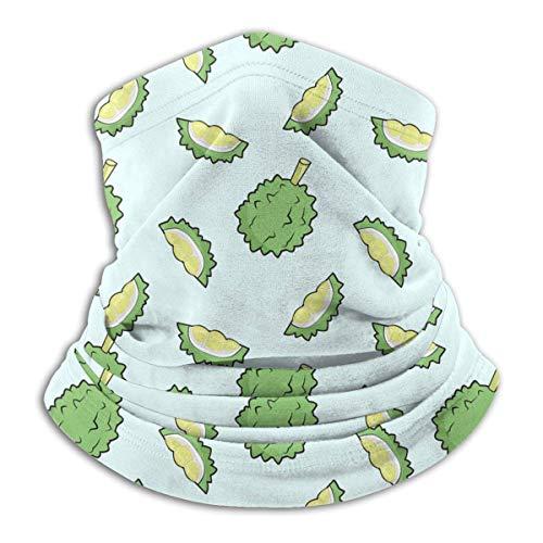 XXWK Halstuch/Kopftuch, Green Durian Cartoon Neck Gaiter Warmer Windproof Face Dust for Men Women