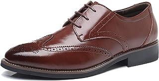 [AcMeer] ビジネスシューズ メンズ 紳士靴 外羽根 ウイングチップ レザー シューズ 革靴 焦がし加工 婚葬祭 営業マン 防滑 軽量 大きいサイズ 4色
