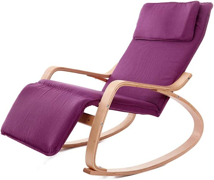 Rocking Chair Wooden Relax with Max 89% OFF Recliner In stock Armrest a