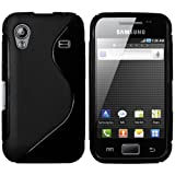Mumbi - Power Grip Custodia in TPU per Samsung Galaxy Ace S5830, Nero