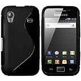 mumbi Hülle kompatibel mit Samsung Galaxy Ace Handy Hülle Handyhülle, schwarz