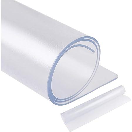 [Amazonブランド] Eono(イオーノ) 冷蔵庫マット キズ防止 凹み防止 床保護シート Mサイズ 65×70cm ~約500Lクラス シポ加工 透明 PVC材質 冷蔵庫耐震マット