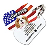 image of Patriotic Dog Personalized Pet ID Tag