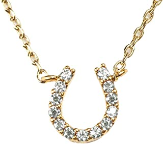 LuckyLy Horseshoe Necklace for Women with Cubic Zirconia, Swarovski Necklace (Style) Chain with Pendant Horseshoe Shape, L...