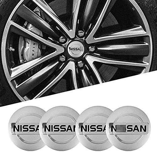4 Piezas Cubo Rueda Cubierta Central Para Nissan Qashqai Juke X-Trail Terrano Kicks, Polvo Insignia ModificacióN Estilo Cubierta Accesorio