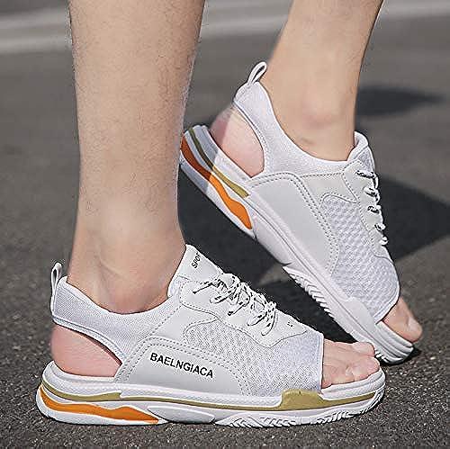 Shukun Sandales pour hommes Sandales Pantoufles d'été pour Hommes VêteHommests de Mode Sandales Chaussures de Plage pour Hommes