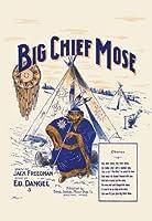 "Big Chief Mose Fineアートキャンバス印刷(20"" x30"")"