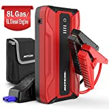 Meterk 1500A Peak 18000mAh Car Jump Starter (up to 8.0L Gas, 6.0L Diesel Engine),12-Volt Ultra Safe Portable Lithium Car Battery Jump Starter,USB Quick Charge with Built-in LED Light
