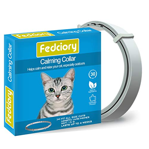 Fedciory Calming Collar for Cats, Adjustable Relieve Reduce Anxiety Pheromone...