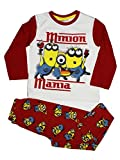 Minions Official Boys Long Pyjama Set 3Years Red
