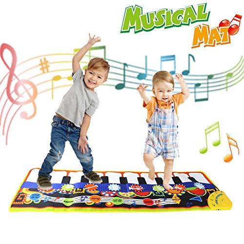 Juegos Educativos Niños 1 2 3 4 5 años,Alfombra Musical - Piano Infantil Musical Canto Teclado Estera de Alfombra Bebé Niño Actividad Juego De Gimnasio Colchonetas Regalo del Bebé niña Niños 1-6 años