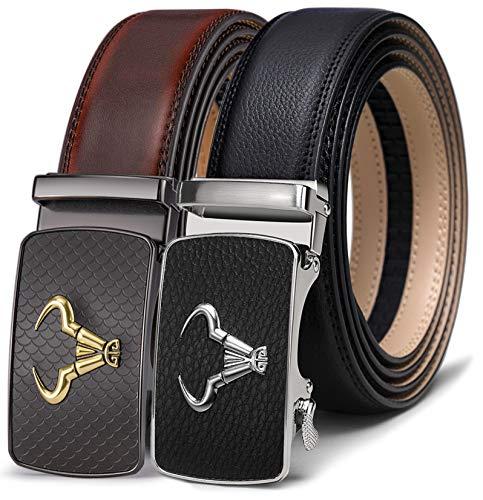 Bulliant Men Belt-Leather Ratchet Belt for Men Dress 1 3/8 In Gift...