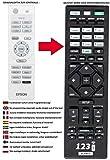 Ersatz Fernbedienung passend für EPSON EH-TW3500 | EH-TW3600 | EH-TW3800 | EH-TW4000