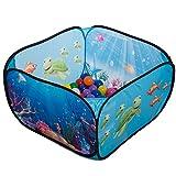 aussergewoehnlich® Mini pop up Unterwasserwelt Babypool Bällebad Bällepool + 100 Bunte Bälle