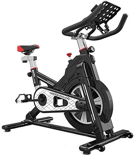 Qianglin Bicicletas de Ejercicio, con Montaje en iPad, Bicicletas de Ciclismo, Manillar y Asiento Ajustables, Carga máxima de Carga 440 lbs (Color : Black)