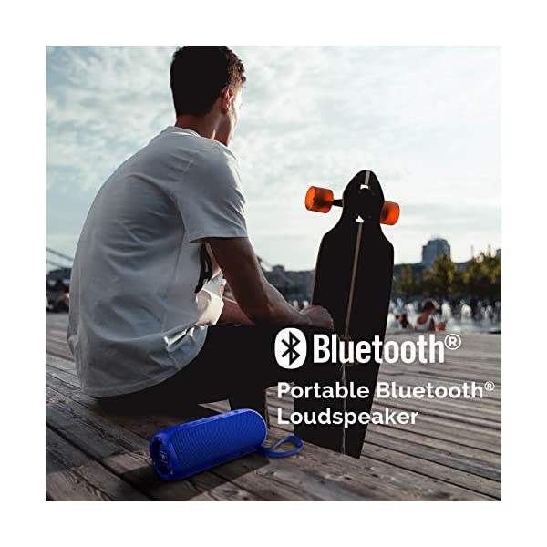 Waterproof Portable Bluetooth Speaker with 20W Stereo Sound,TWS Connection, Built-in Mic, Portable Wireless Speaker for Home and Outdoors (Black) 5