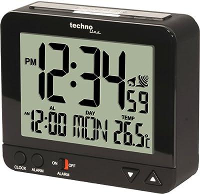 Technoline Wt 195 - Despertador con control radio (Incluye Luz Nocturna)