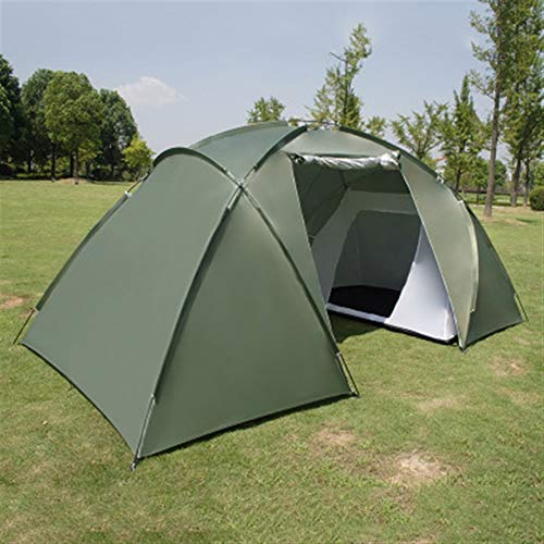 Ai-lir Event Zelt Tone 5-8 Person Großes Zelt wasserdichte Doppelschicht Sommerzelt Outdoor Lager Wanderung Angeln Jagd Familiy Party Zelt (Color : Green, Size : A)