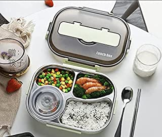 Honsto Portable Insulated Separated Lunch Box Student Office Worker Lunch Box 1500ML