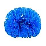 Wukong Paradise 2PCS Pom Poms Matt Team Sports Cheerleading Poms Gran Partido Baile Atrezzo-Azul