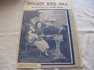 MOCKIN BIRD HILL VAUGHN HORTON 1949 SHEET MUSIC FOLDER 442 SHEET MUSIC