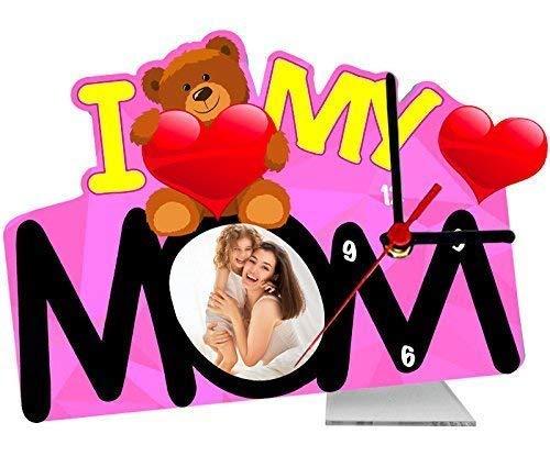 Tischuhr Personalisiert Wunschdruck Foto I Love My Mom Geschenkidee Muttertag
