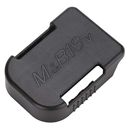 Gerioie Suporte de bateria preto com três furos de montagem, compartimentos para suporte de bateria, leve e portátil para bateria Makita de 18 V