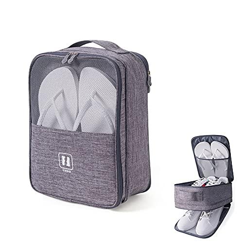 Housses chaussures de voyage,sac à chaussures d'extérieur portable, étanche à la poussière, imperméable et respirant, peut être utilisé en combinaison avec une valise à roulettes.