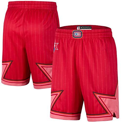 NBA 2020 All Star Youth 8-20 Official Swingman Dri-Tek Performance Shorts (NBA All Star Shorts Red, 8)